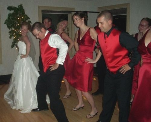 Bridal Party Jumps on It!