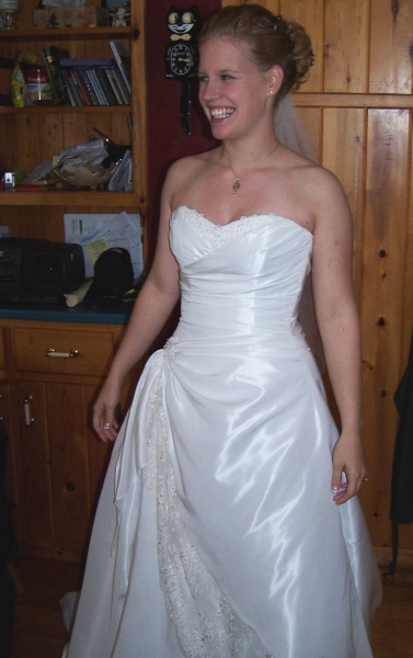 Bride emerging